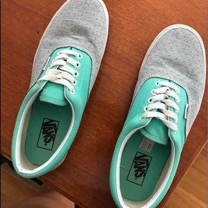 Vans Shoes   Mint And Gray Vans   Poshmark